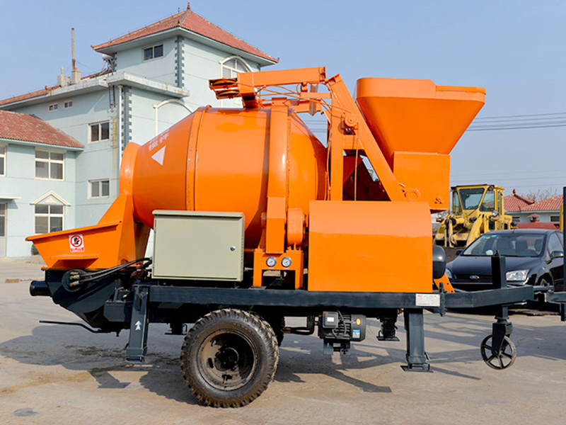 concrete mixer pump with diesel engine